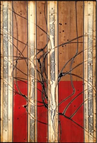 Aspenized 15 acrylic on panel