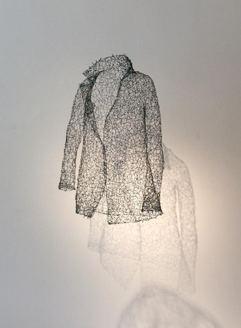 Philospher's Coat black wire, blue and green beads