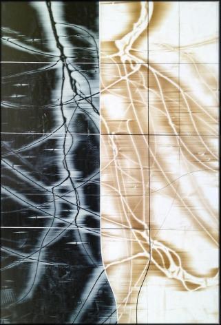 Treeclips 7 acrylic on panel