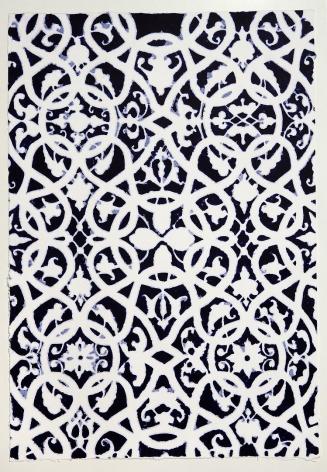 Indigo Moorish Pattern