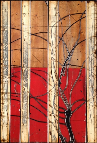 Aspenized 16 acrylic on panel