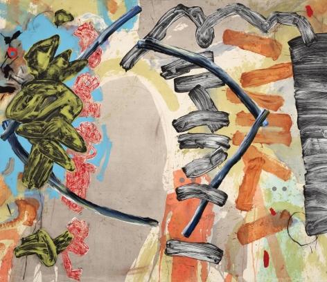 Aztec mixed media on canvas
