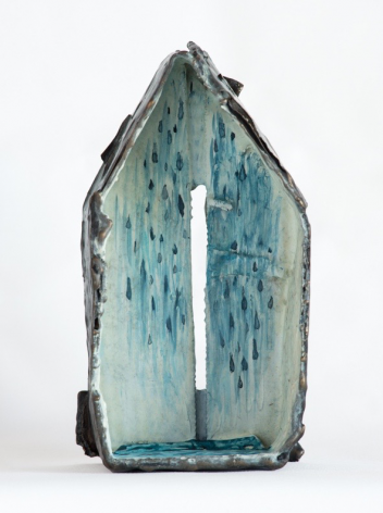 Water House cast bronze