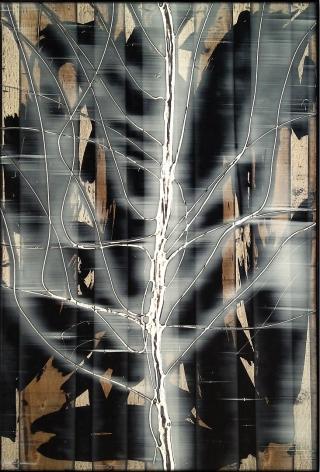 Treeclips 14 acrylic on panel