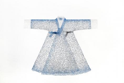 Key-Sook Geum Greetings in Blue, 2018
