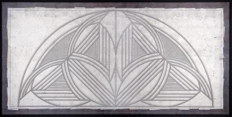 Bridge 11 palladium and Asian silver leaf on gray clay
