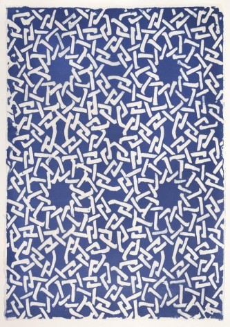 Blue Webbing handmade linen and abaca paper