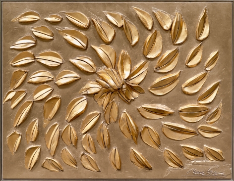 gold leaf surface painting  by George Dunbar