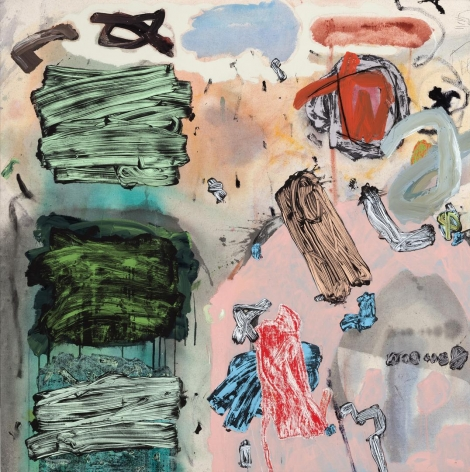 Totem mixed media on canvas