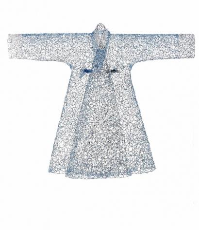 Blue JangOt black wire, blue beads