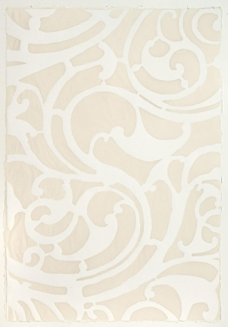 White Serpentine handmade cotton and abaca paper