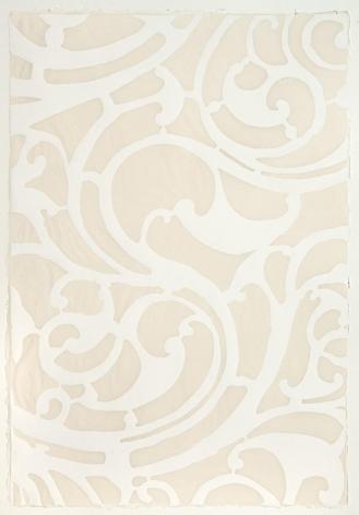White Serpentine handmade cotton and abaca paper