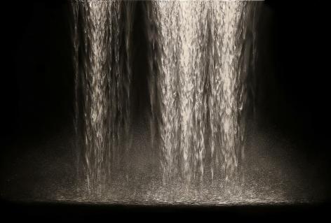 Flow Waterfall incised painted aluminum