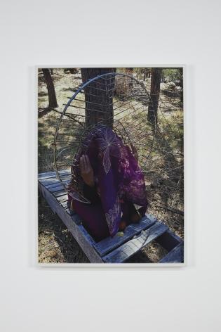 Senga Nengudi, In My Backyard, April 2020 (Performance Photograph), 2020