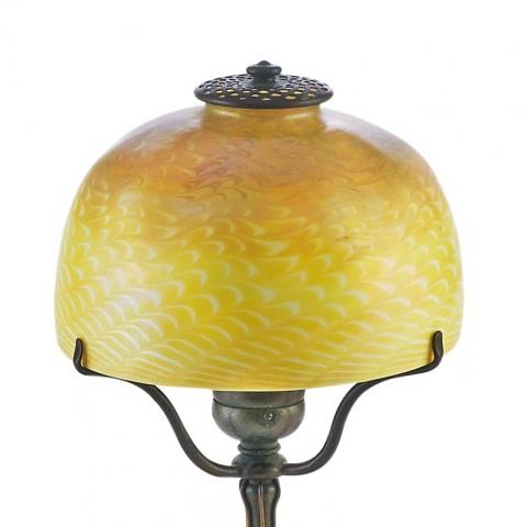 Amber Damascene Table Lamp