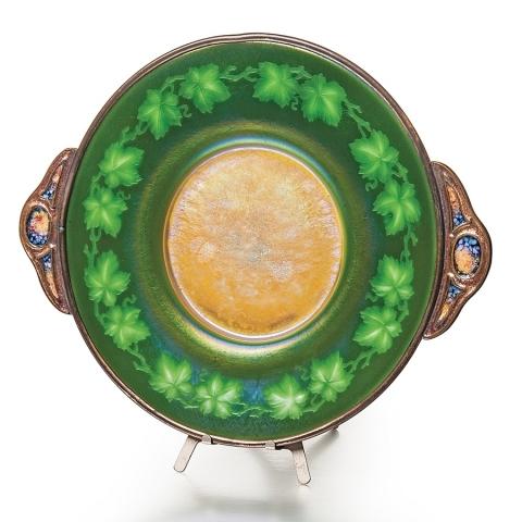 Intaglio Favrile Glass Plate