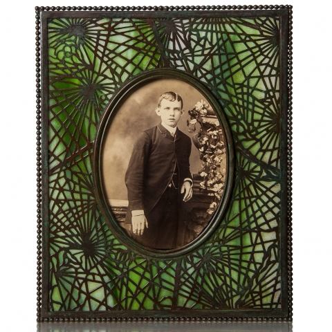 Etched Metal and Glass Frame