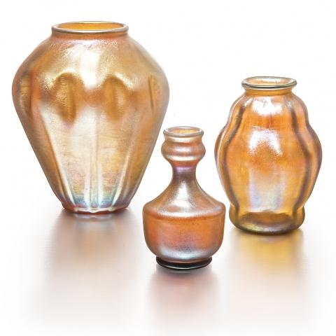 Favrile Glass Set of Vases