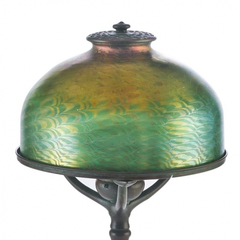 Table Lamp with Favrile Shade