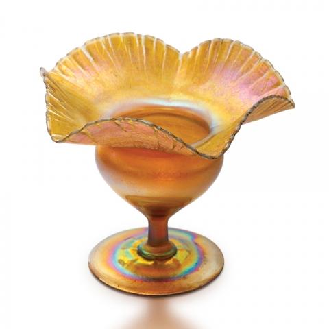 Favrile Glass  Compote