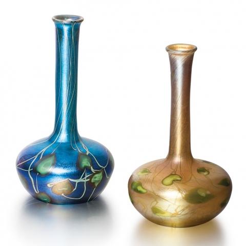 Favrile Glass Bud Vases