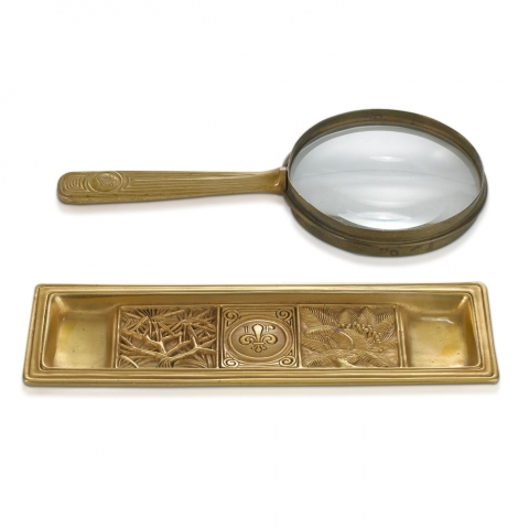 Bookmark Magnifier Glass and Pen Tray