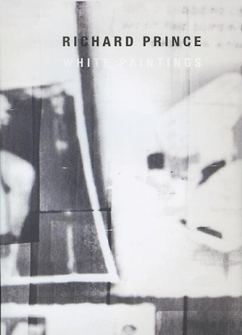 Richard Prince White Paintings Skarstedt Publication Book Cover