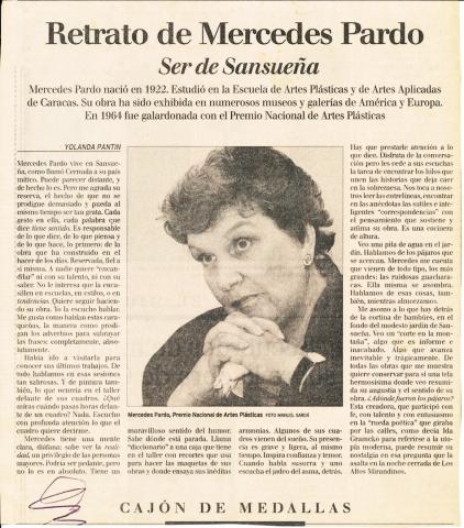 Retrato de Mercedes Pardo. Ser de Sansueña