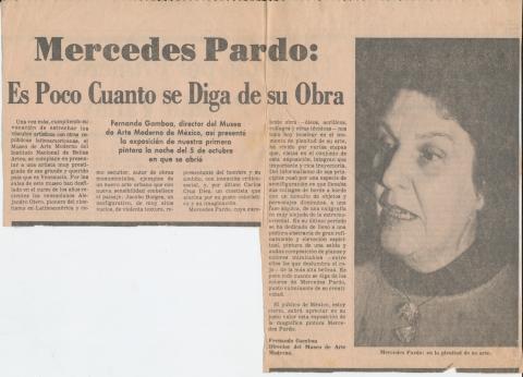 Mercedes Pardo: Es poco cuanto se dice de su obra