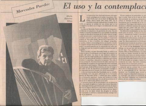 Mercedes Pardo: El uso y la contemplación