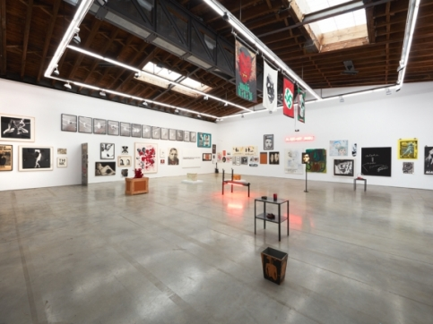 Larry Clark collection show installation