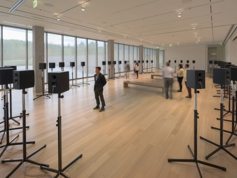 """""""The Forty Part Motet"""" by Janet Cardiff at the Clark Art Institute."""