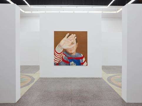 Katz painting installation in Shanghai