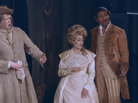 Scene from opera, 3 actors