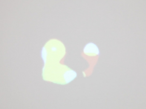 Friedman video installation abstract shapes