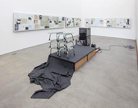 Mucha sculpture installation