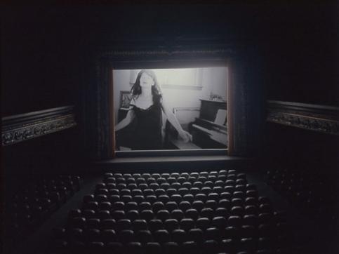 darkened movie theater