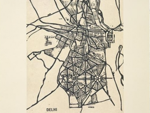 Zarina wood cut map print
