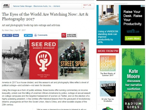 Steve Schapiro - The Eyes of the World Are Watching Now: Art & Photography 2017 - Publishers Weekly