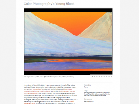 Young Blood - Color Photography's Young Blood - PDN Photo of the Day