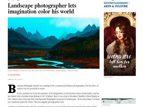Brendan Pattengale - Landscape photographer lets imagination color his world - LA Times