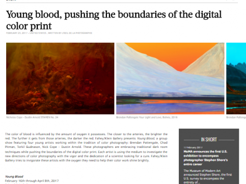Young blood, pushing the boundaries of the digital color print - http://www.loeildelaphotographie.com