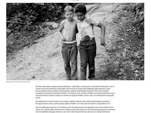 Roger Ballen - Ballenesque: Wall Street International Magazine