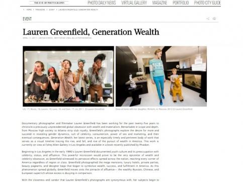 Lauren Greenfield, Generation Wealth - L'oeil de la Photographie