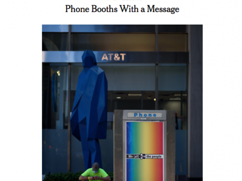 press: phone booths with a message