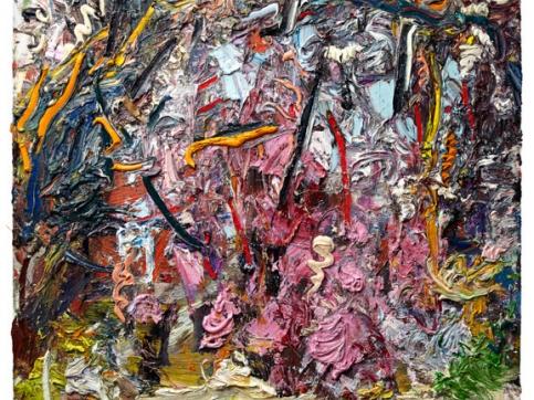 Ying Li, Cherry Blossom, Oil On Canvas