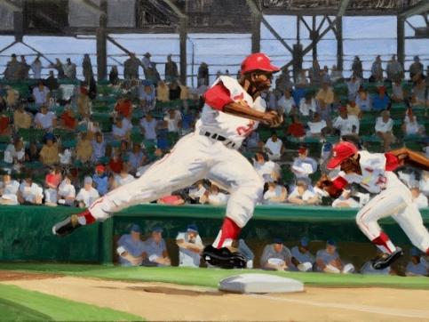 Max Mason, Baseball, Oil On Canvas