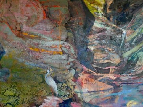 Perky Edgerton, Oil On Canvas, Heron