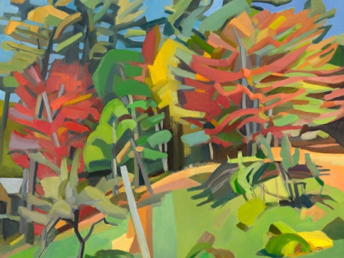 Martha Armstrong, Fall, Oil On Canvas