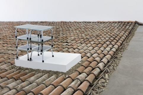 Mucha stool sculpture
